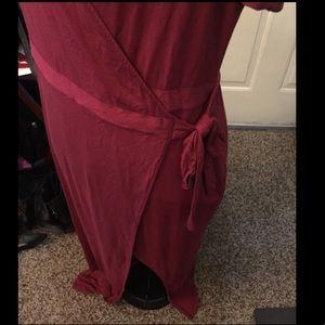 Forever 21 Dresses - Forever 21 Maroon Maxi Wrap Dress